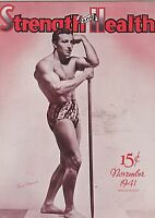 NOV 1941 STRENGTH & HEALTH bodybuilding muscle magazine EMILE BONNET