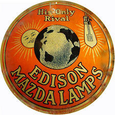 Edison Mazda Lamps Nostalgic Reproduction Advertisement