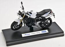 BLITZ VERSAND Triumph Street Triple Welly Motorrad Modell  1:18 NEU & OVP