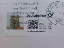Umschlag mit Internet - Briefmarke Motiv München Frauenkirche