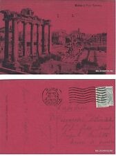 # ROMA - FORO ROMANO - Cartoncino rosso non comune ediz. P. Pellecchy  1916