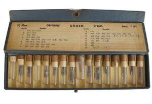 Vintage 1930's Genuine Gruen Stems 16 Bottle Assortment