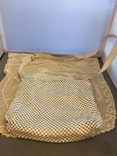 Vintage Whiting and Davis White mesh bag purse