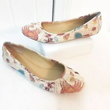 Womens Shoes Nine West BLUSTERY Ballerina Ballet Flats 7.5 Crab Lobster Tropical