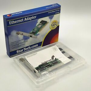 StarTech ST100S 1 Port PCI 10/100 Mbps Ethernet Network Adapter Card - NEW