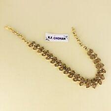 Gold diamante hair head chain matha patti hijab boho grecian prom headpiece
