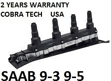 1 SAAB COIL PACK BLACK 9-3 9-5 99-2009  5555 9955, 5556 2588, 9197559 2 YEAR WTY