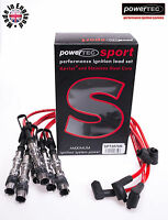 PowerTEC Sport 8mm Red Ignition Leads HT Volkswagen Golf Bora 2.8 v6 24v AQP AUE
