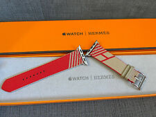 Apple Watch Hermes Band 44MM Kraft / Rouge Jumping Single Tour