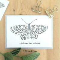 DIY Butterfly Stencil Painting Decor Scrapbooking Album Tool B8X4 Craft Art V8R8