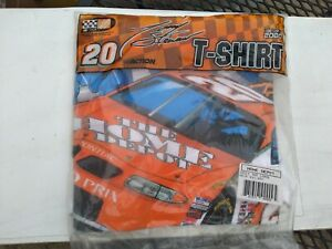 Vintage 1999 TONY STEWART #20 Home Depot NASCAR T-Shirt NEW in Package Size L