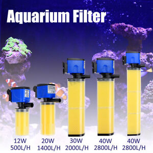 Submersible 550-2800L/H Aquarium Fish Tank Filter nternal Oxygen Water Pump