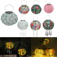 8/10 Inch Solar LED Chinese Lantern Light Garden Waterproof Hanging Printed Lamp