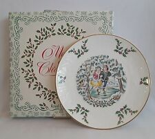 Vintage Royal Doulton 1977 Christmas Plate 1st in Series With Box Skating Couple