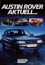 Austin Rover actuellement prospectus 2/87 brochure 1987 MINI METRO MAESTRO MONTEGO voitures