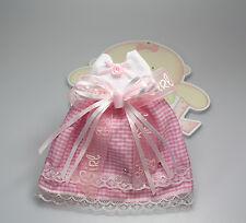 Kleidchen mit Organzasäckchen als Geschenkverpackung rosa Taufe Geburt