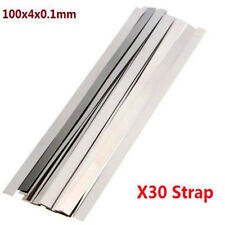 Pure Nickel 99.96% Low Resistance Ni Metal Strap Sheet Set 0.1mm*4mm*100mm X30 ♫