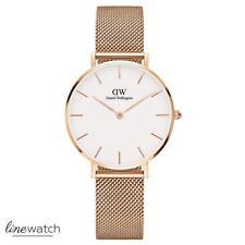 Daniel Wellington DW00100163 Petite Melrose Damenuhr Uhr Rosegold Weiß NEU OVP