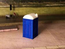2x 3D PRINTED PORTABLE TOILETS OO GAUGE MODEL RAILWAY 1:76 SCALE AX064-OO