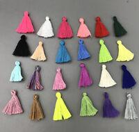 100X Variety colors Cotton Thread Tassel Charm Pendant Tassels Jewelry 30mm
