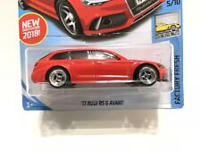 Hot Wheels '17 Audi RS 6 Advant Wagon Red w/Real Rider Tires & Rims