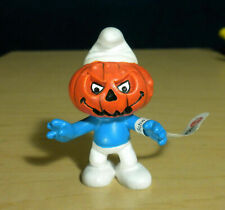 Smurfs Pumpkin Head Smurf Halloween 20548 Vintage Figure PVC Figurine Germany