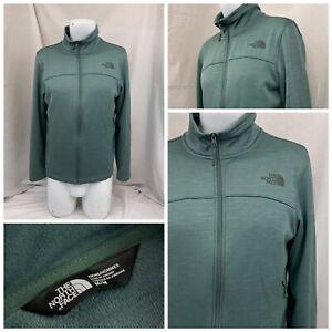 The North Face Jacket M Green Full Zip Pockets Polyester Stretch YGI V1-365
