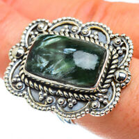 Large Seraphinite 925 Sterling Silver Ring Size 8.5 Ana Co Jewelry R43807F
