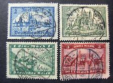 "GERMANIA, GERMANY1924-1927 REICH "" Vedute diverse"" 4 Valori Cpl set USED"
