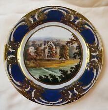BOLTON ABBEY Tin Enamel plate 26cm Chatsworth HouseCollectable Derbyshire