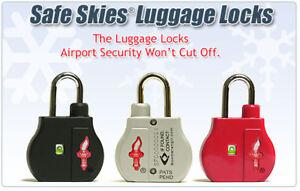Safe Skies BoomerangIT Keyed TSA Luggage Lock with Indicator - 5 Colours £4