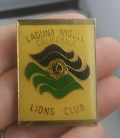 Vintage Laguna Miguel California LIONS CLUB pin pinback button pin *EE91
