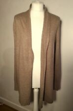 FENN WRIGHT MANSON ANGORA BLEND OPEN FRONT SWING light brown CARDIGAN L NEW
