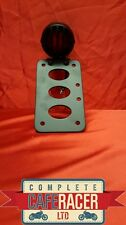 SM6b CAFE RACER SIDE MOUNT NUMBER PLATE BRACKET WITH STOP + TAIL LIGHT IN BLACK