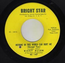 """n soul / new breed """"NOTHING IN THIS WORLD.."""" RICKY ALLEN on BRIGHT STAR - MINT!"""
