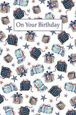 Carte d'anniversaire - masculin homme garçon - Bleu Anniversaire Cadeaux (a99)