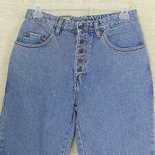 Womens Pepe Candy High Waist Jeans Size 13/14 Button Fly Mom Jeans Light Wash