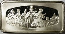1973 1000 Grain Franklin Mint Christmas Ingot of Solid Sterling Silver