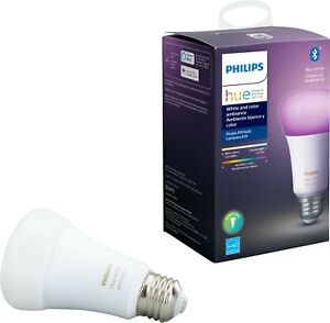 Philips Hue White and Color Ambience A19 (1 Pack Bulbs)New + Free Shipping