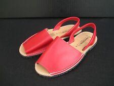 Menorquinas Spain Women's Leather Flat Sandals, Size 36 EU