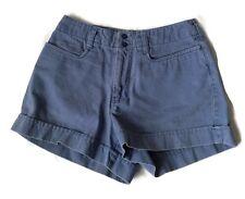 Abercrombie & Fitch Blue Cotton Worn 4 Pocket Shorts Size 2