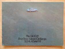 JAGUAR XJ SERIES 2 SALOONS orig 1975 1976 UK Mkt Sale Brochure - 3.4 4.2 5.3 V12