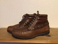 VTG Men's H.H.B. Watermocs Sz 9.5 M Brown Leather Hiking Work Ankle Boots Shoes