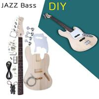 JAZZ Bass Style 4 Strings Electric Bass Solid Basswood Body DIY Kit Set US STOCK