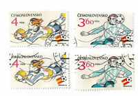 Czechoslovakia postage stamps x 4, 1982 Football World Cup