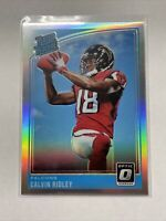 CALVIN RIDLEY 2018 Donruss Optic HOLO Silver Prizm Rated Rookie RC #161 Falcons