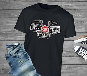 Biker Mice From Mars Logo 90s Kids TV Show Nostaglia Retro Throwback T-Shirt Tee