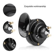 Black 12V Loud Motorcycle 110DB Snail Electric Air Horn Waterproof Universal ABS