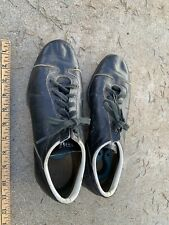 Vintage  Wilson Black Leather Baseball Shoes Steel Cleats size 9