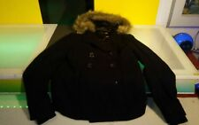 Groggy wool jacket womens size small good condition furry hood black